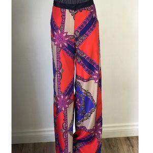 Silk Print Pants